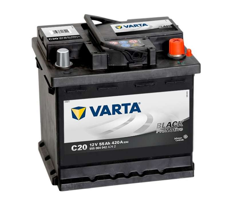 Varta Promotive Black 555064 55Ah/420 обратная ( -  + ) 242x175x190