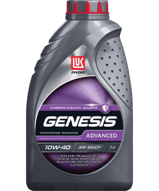 ЛУКОЙЛ GENESIS ADVANCED 10W-40 SN/CF (1л)